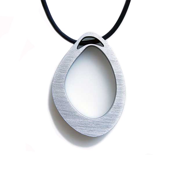 necklace Stone S1 Raw  ground aluminium